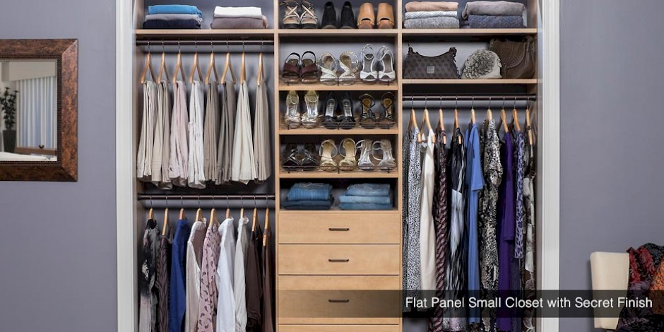Charmant Flat Panel Custom Small Closet With Secret Finish
