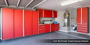 Powder Coated Custom Garage Cabinets
