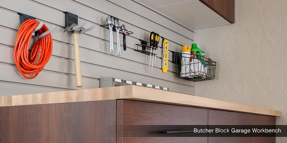 Butcher Block Garage Workbench
